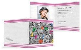 Geburtstagseinladung Kinder Buchstabensalat Foto - Pink (K24)