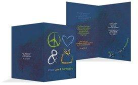 Einladungskarte Birthdayparty - Dunkelblau (K20)