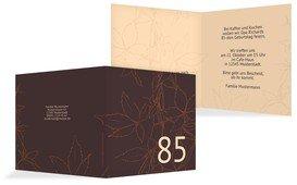Geburtstagseinladung Herbst 85 - Braun (K24)