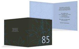 Geburtstagseinladung Herbst 85 - Blau (K24)