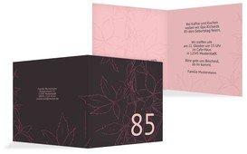 Geburtstagseinladung Herbst 85 - Pink (K24)