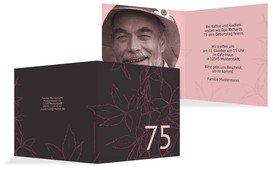 Geburtstagseinladung Herbst 75 Foto - Pink (K24)