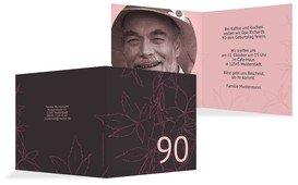 Geburtstagseinladung Herbst 90 Foto - Pink (K24)