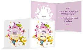 Geburtstagseinladung Traumprinzessin - Pink (K24)