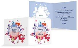 Geburtstagseinladung Traumprinzessin - Hellblau (K24)