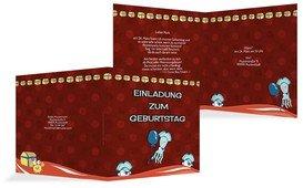 Geburtstagseinladung Piratenabenteuer - Rot (K24)