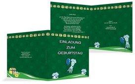 Geburtstagseinladung Piratenabenteuer - Grün (K24)