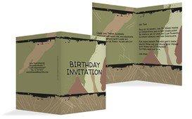 Geburtstagseinladung Army Lifestyle - Grün (K20)