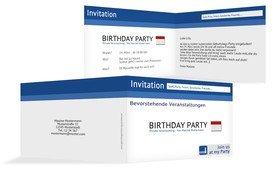 Geburtstagseinladung Gefällt mir! - Blau (K19)