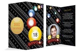 Einladung zum 18. Geburtstag Bingo 18 Foto - Gelb (K35)