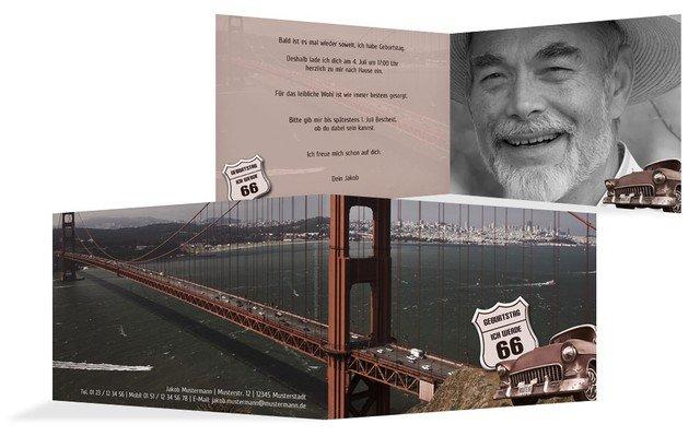 Einladungskarte zum Geburtstag old bridge Foto
