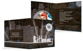 Einladung zum 18. Geburtstag City Lights Foto - Blau (K24)