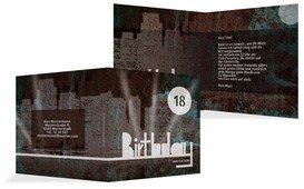 Einladung zum 18. Geburtstag City Lights 18 - Türkis (K24)