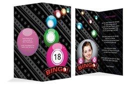 Einladung zum 18. Geburtstag Bingo 18 Foto - Pink (K35)