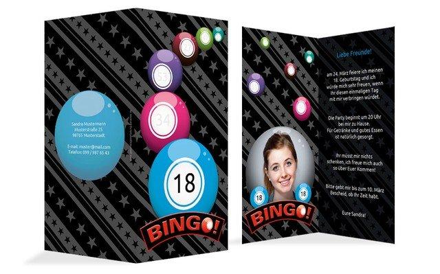 Einladung zum 18. Geburtstag Bingo Foto