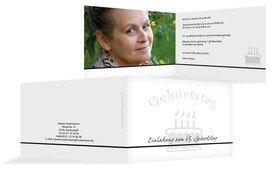 Geburtstagseinladung colour-contrasting 65 Foto - Weiß (K19)