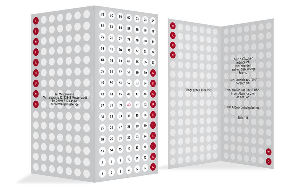 geburtstagskarte zahlenspiel kartenmanufaktur. Black Bedroom Furniture Sets. Home Design Ideas