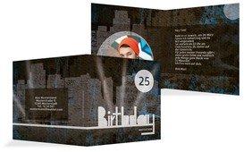 Einladung zum Geburtstag City Lights Foto - Blau (K24)