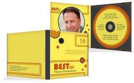 Geburtstagseinladung Best Of CD Foto - Gelb (K24)