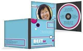 Geburtstagseinladung Best Of CD Foto - Blau (K24)