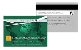 Einladungskarte Geburtstag Kreditkarte - Grün (K25)