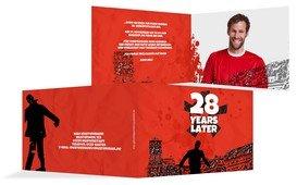 Einladungskarte Geburtstag XX Years later - Rot (K19)