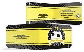 Geburtstag Einladungskarte Fussballstar 18 - Gelb (K19)