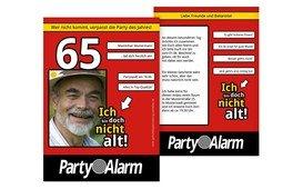Geburtstagseinladung Ich bin doch nicht alt! Foto 65 - Rot (K31)