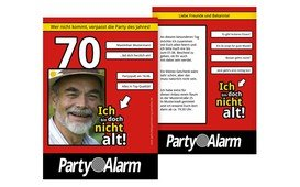 Geburtstagseinladung Ich bin doch nicht alt! Foto 70 - Rot (K31)