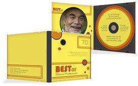 Geburtstagseinladung Best Of CD Foto 70 - Gelb (K24)