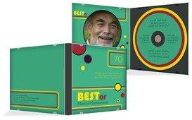 Geburtstagseinladung Best Of CD Foto 70 - Türkis (K24)