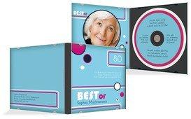 Geburtstagseinladung Best Of CD Foto 80 - Blau (K24)