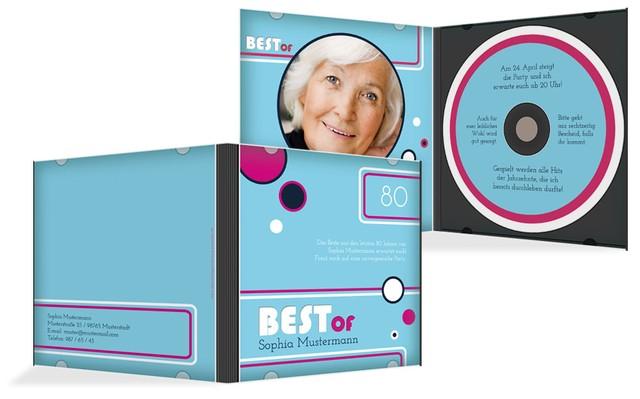 Geburtstagseinladung Best Of CD Foto 80