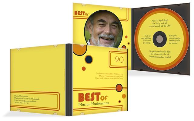 Geburtstagseinladung Best Of CD Foto 90