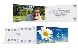 Einladung zum Geburtstag Lebensfreude Foto 40 - Blau (K33)