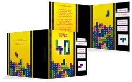 Einladung zum Geburtstag 8bit Game 40 - Gelb (K24)