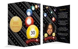 Einladung zum Geburtstag Bingo 30 Foto - Gelb (K35)