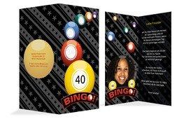 Einladung zum Geburtstag Bingo 40 Foto - Gelb (K35)