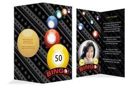Einladung zum Geburtstag Bingo 50 Foto - Gelb (K35)