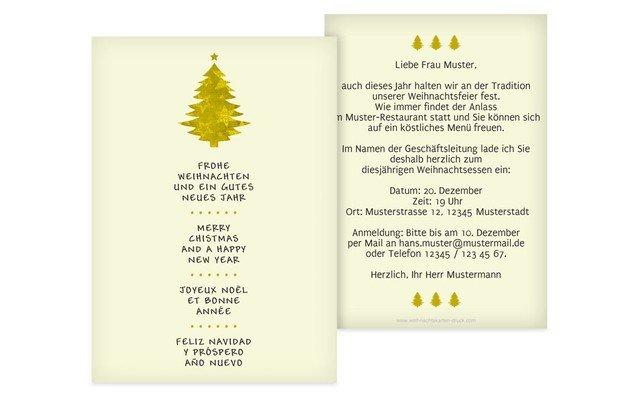 einladungskarte weihnachten gesch ft b umchen. Black Bedroom Furniture Sets. Home Design Ideas