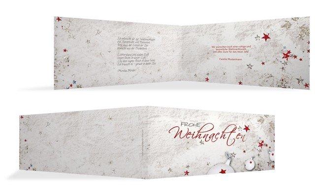 Weihnachtskarte privat sternenstaub kartenmanufaktur - Text weihnachtskarte privat ...