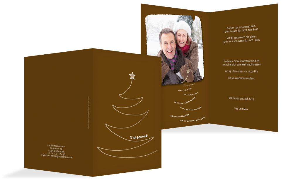 einladung zur weihnachtsfeier privat schriftbaum. Black Bedroom Furniture Sets. Home Design Ideas