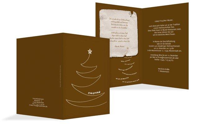 einladung zur weihnachtsfeier gesch ftlich schriftbaum. Black Bedroom Furniture Sets. Home Design Ideas