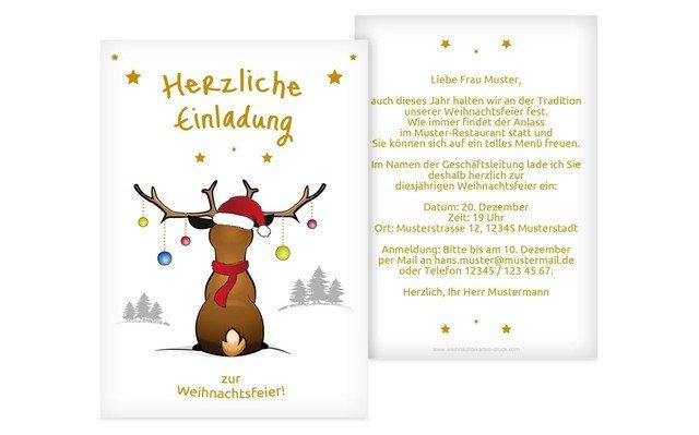 Mit Bezug Einladung Zur Weihnachtsfeier Gedicht