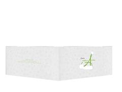 Weihnachts Grußkarte privat A_Mütze - Grün (K33)