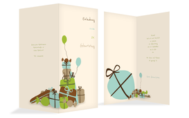 Geburtstagseinladung giftmountain - Grün (K35)