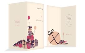 Geburtstagseinladung giftmountain - Pink (K35)