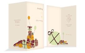 Geburtstagseinladung giftmountain - Gelb (K35)
