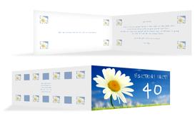Einladung zum Geburtstag Lebensfreude 40 - Blau (K33)
