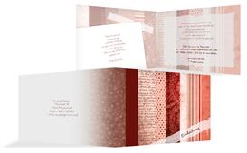 Weihnachts Einladungskarte geschäftlich Geschenkpapier - Rot (K19)